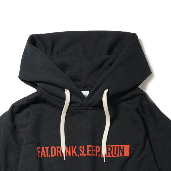 EAT DRINK SLEEP RUN / STREET Hoodie (Black)