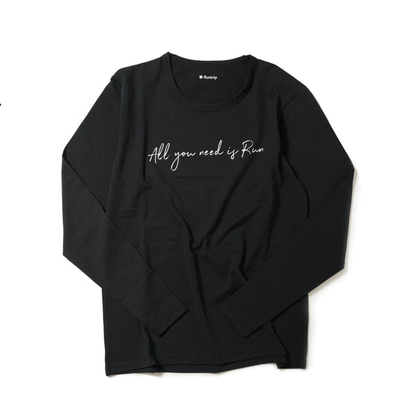 All You Need Is Run Long-sleeve Tee (Black)
