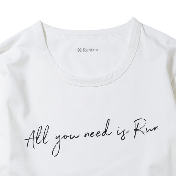 All You Need Is Run Long-sleeve Tee (White)