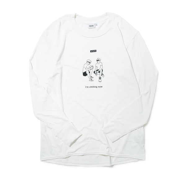 【HAGI×Runtrip】Style long-Sleeve Tee / Chill (White)