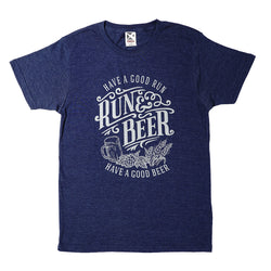 Run & Beer Tee(Navy)
