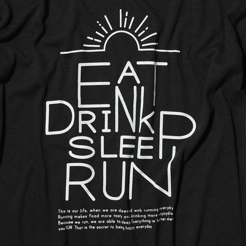 EAT DRINK SLEEP RUN / Sunrise Tee (Black)