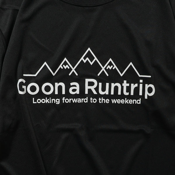DRY|Go on a Runtrip / Mountain Tee (Black)