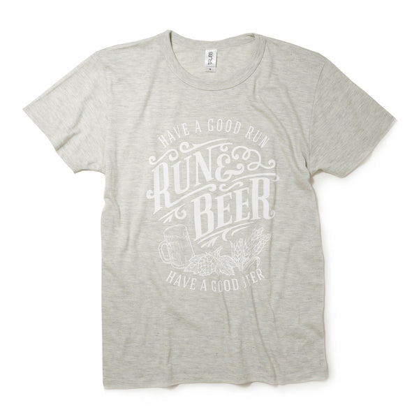 Run & Beer Tee(All White)