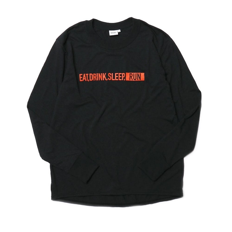 EAT DRINK SLEEP RUN / STREET Long-Sleeve Tee (Black)