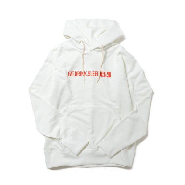 EAT DRINK SLEEP RUN / STREET Hoodie (White)