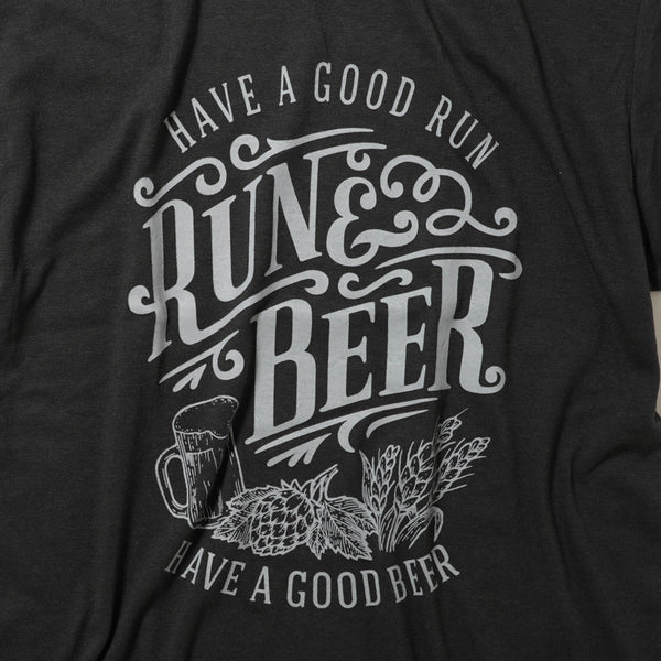 Run & Beer Tee(Black & Gray)