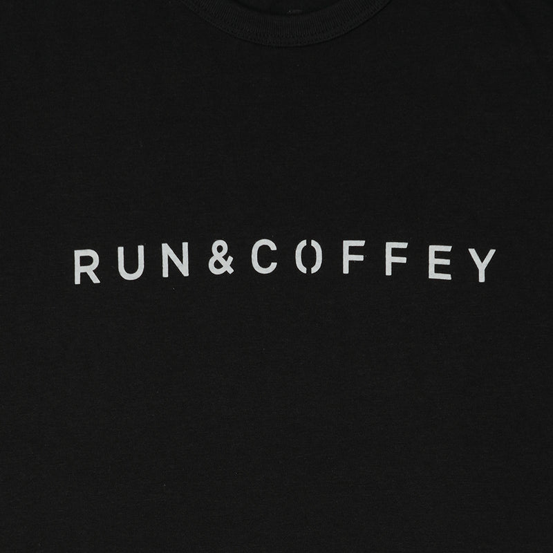 RUN & COFFEY Tee (Black)
