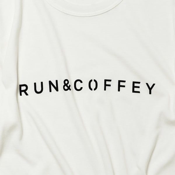 RUN & COFFEY Tee (White)