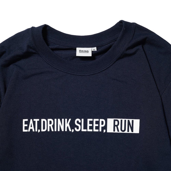 EAT DRINK SLEEP RUN / STREET Long-Sleeve Tee (Navy)