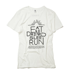 EAT DRINK SLEEP RUN / Sunrise Tee (White)