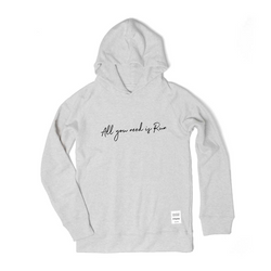 All you need is Run Hoodie by JAMMIN (Oatmeal)