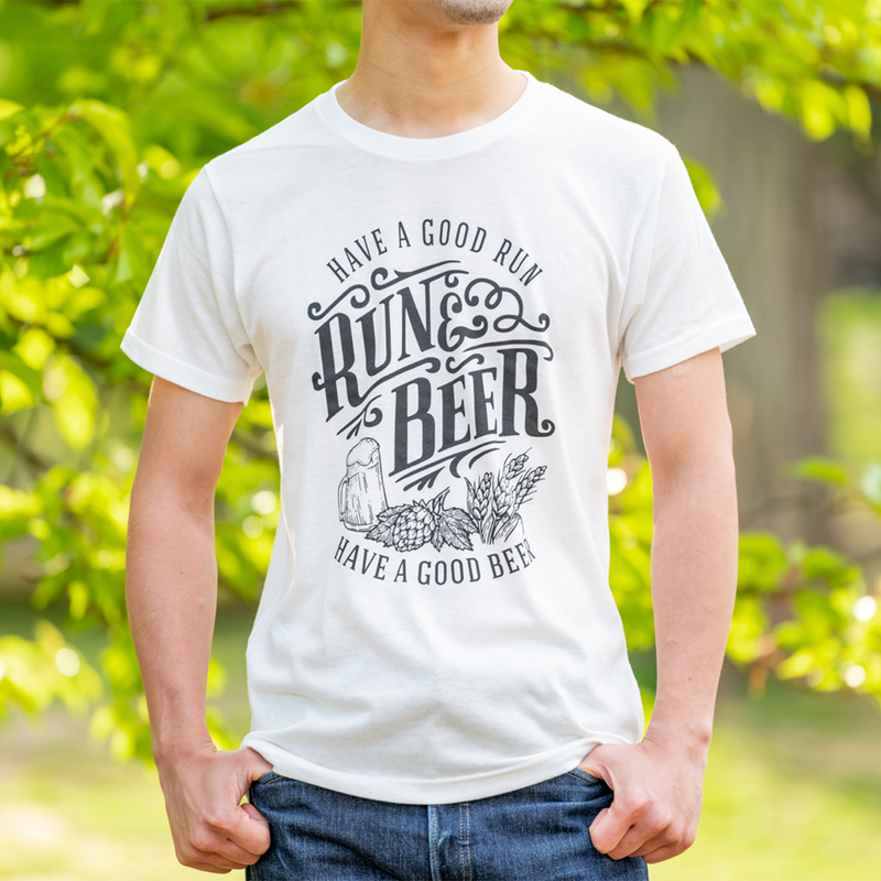 Run & Beer Tee(White)