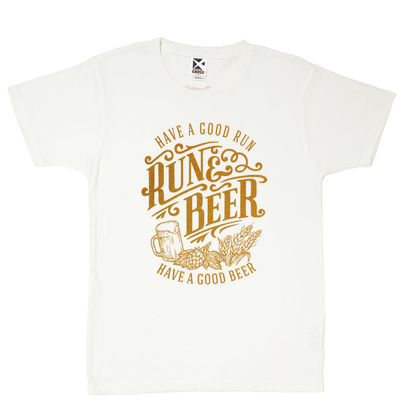 【限定生産】Run & Beer Chari-Tee(White)
