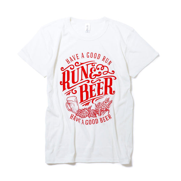 【12月限定】Run & Beer Chari-Tee(RED & White)