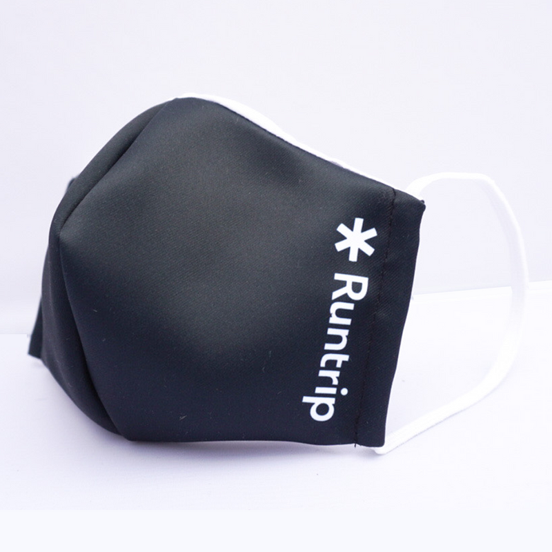 Runtrip SOCIAL DISTANCE Face Mask (Black)|ランニングにも使えるマスク