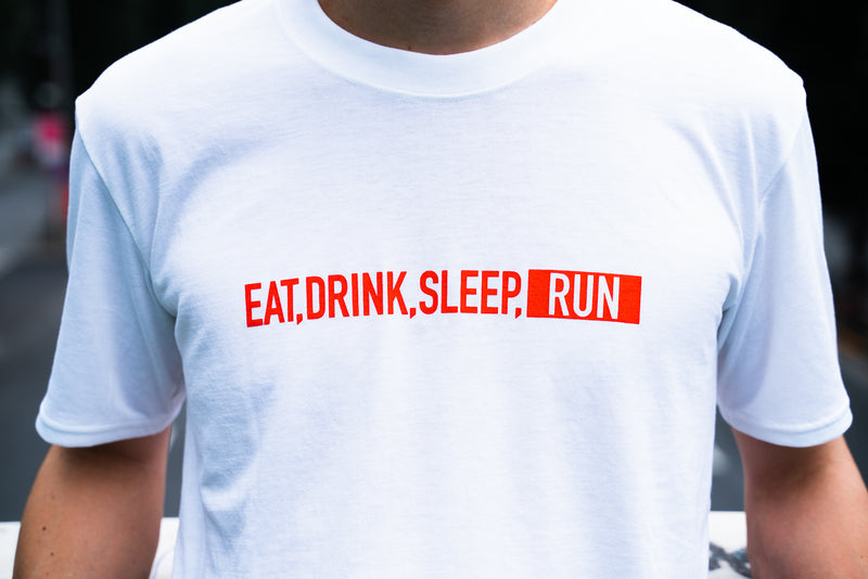 EAT DRINK SLEEP RUN / STREET Tee (White)