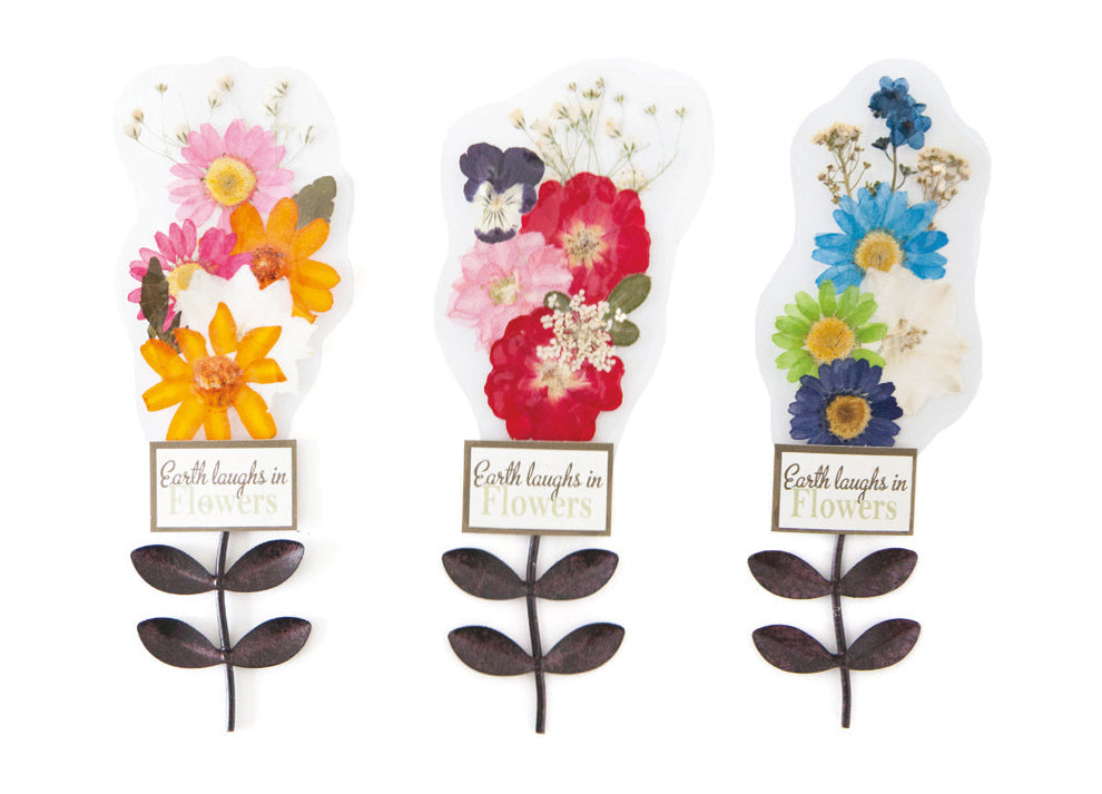 Petal Lane Gift Metal Bookmarks with Real Pressed Flowers