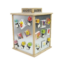 Petal Lane Home Gift and Floral Beveled Glass Magnet Display
