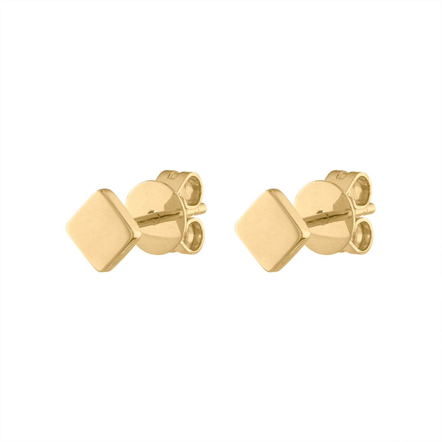 14KT GOLD PLAIN SQUARE EARRING