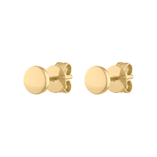 14KT GOLD PLAIN CIRCLE EARRING