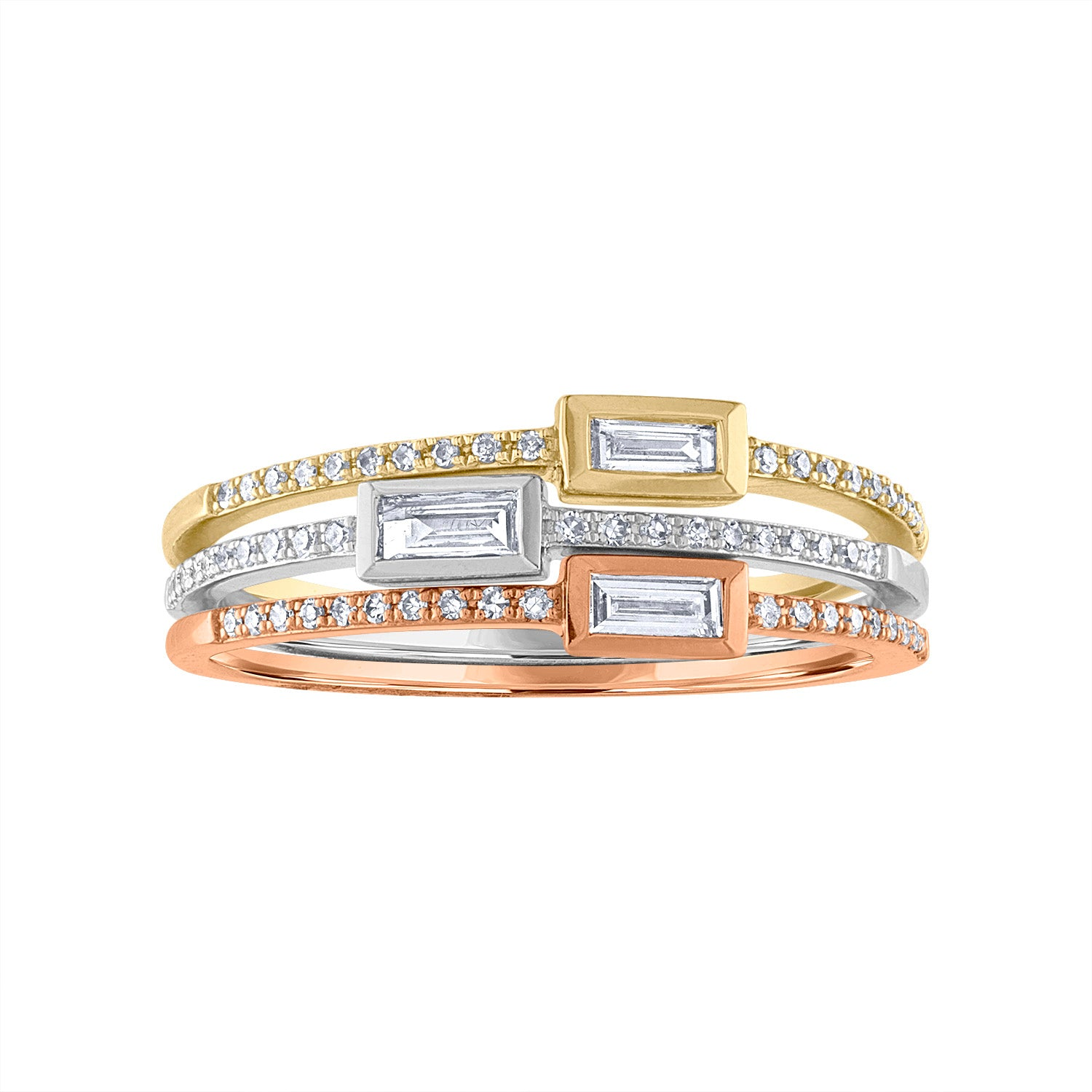 14KT GOLD SINGLE DIAMOND BAGUETTE RING