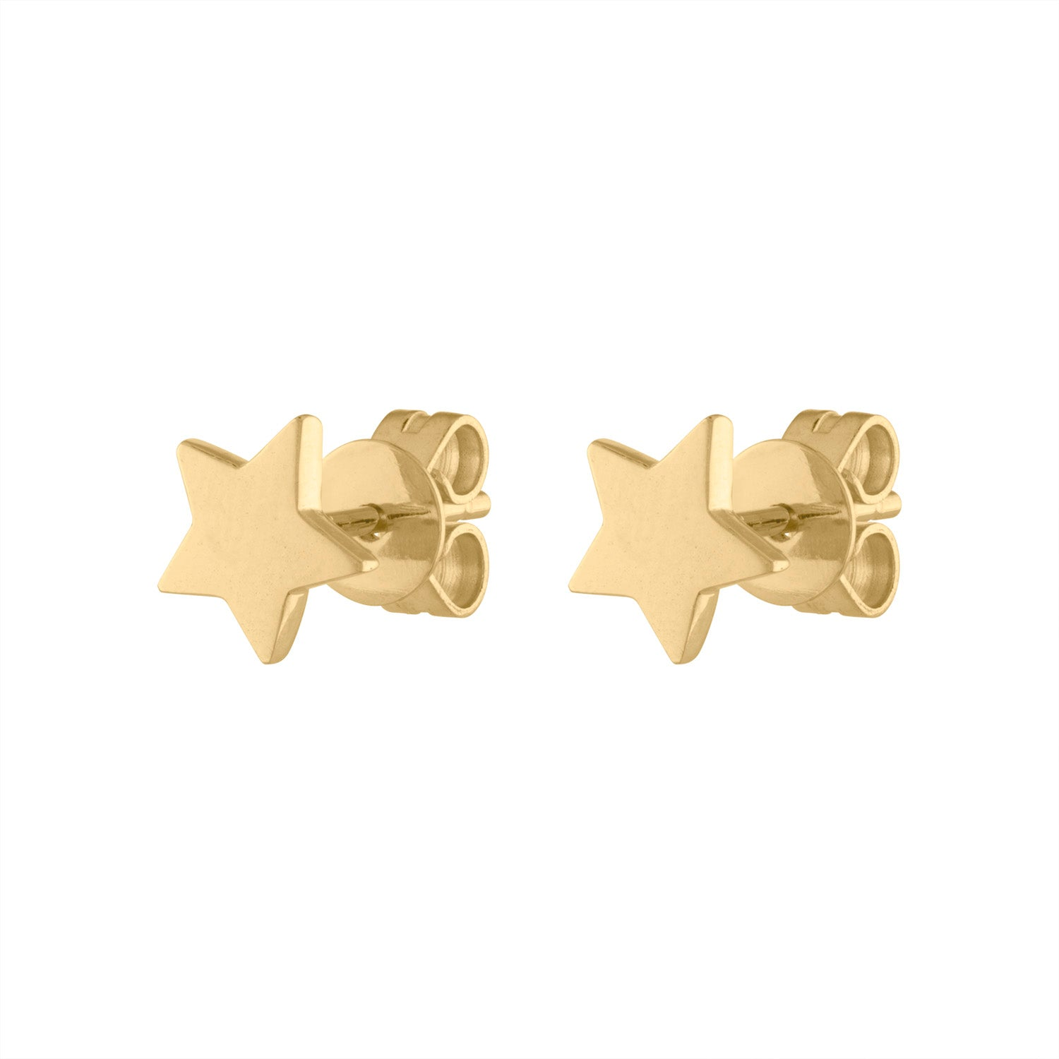 14KT GOLD PLAIN STAR EARRING