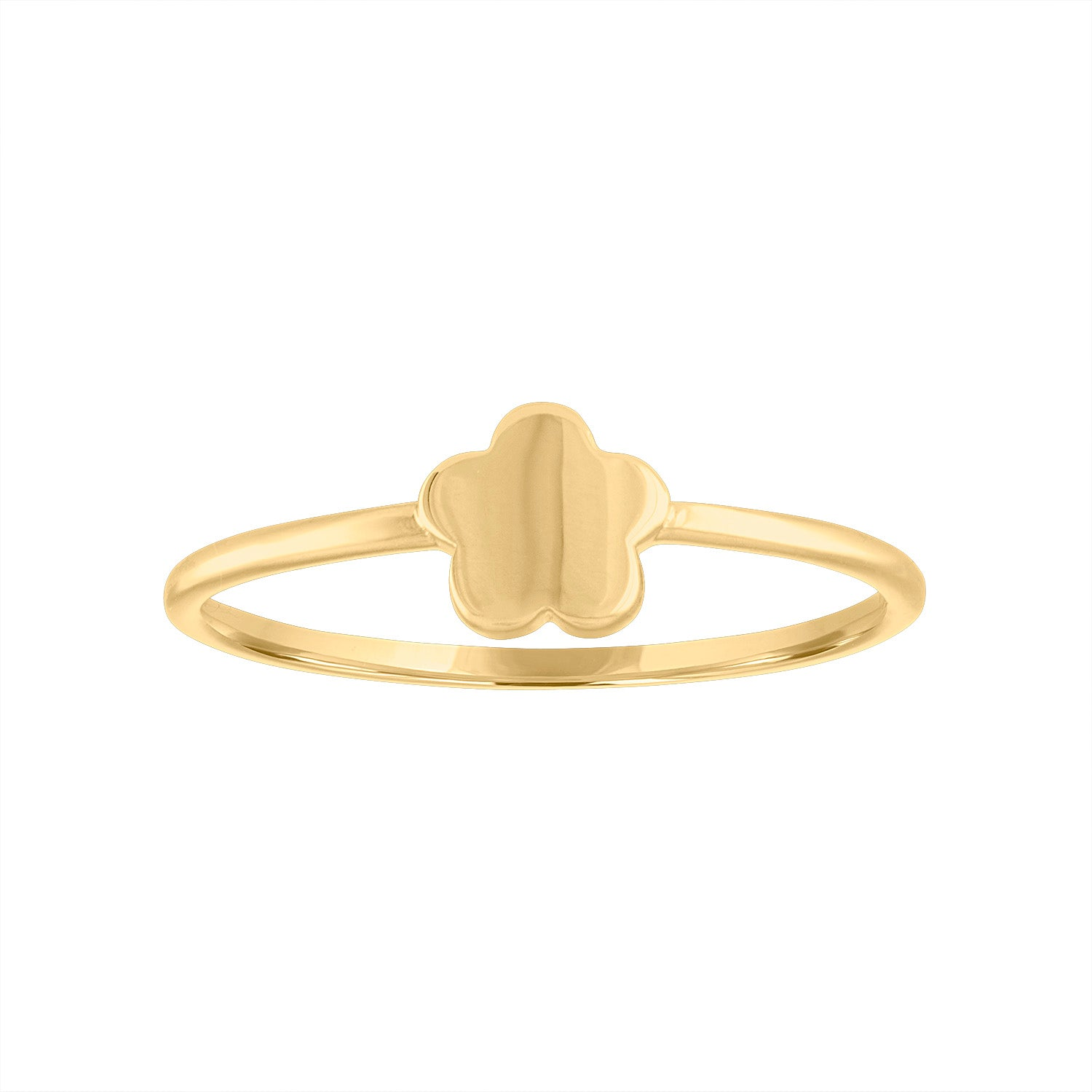 14KT GOLD ONE FLOWER RING