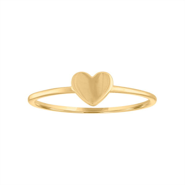 14KT GOLD ONE HEART RING