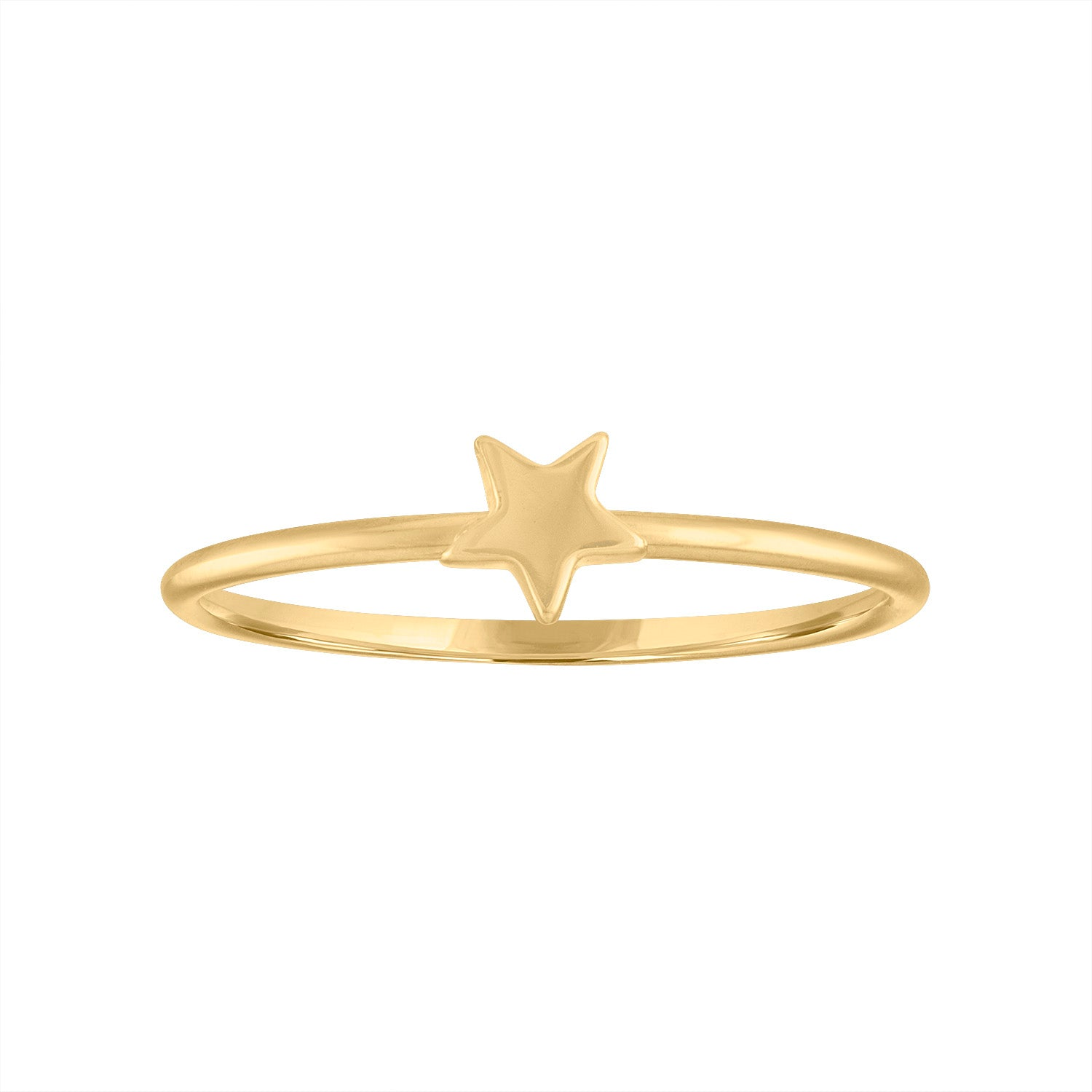 14KT GOLD ONE STAR RING