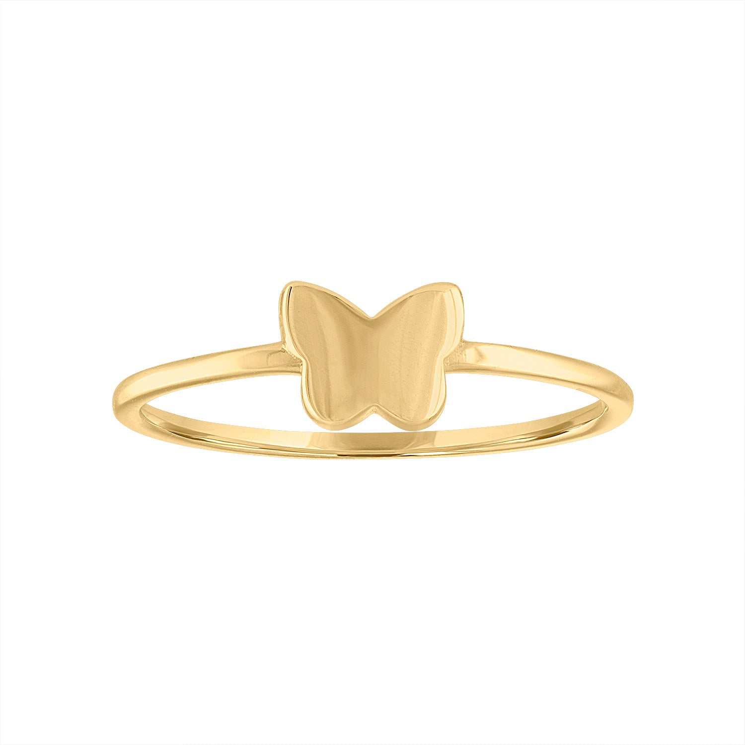 14KT GOLD ONE BUTTERFLY RING