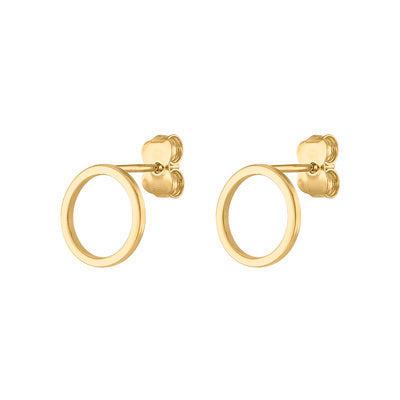 14KT GOLD OPEN CIRCLE EARRING