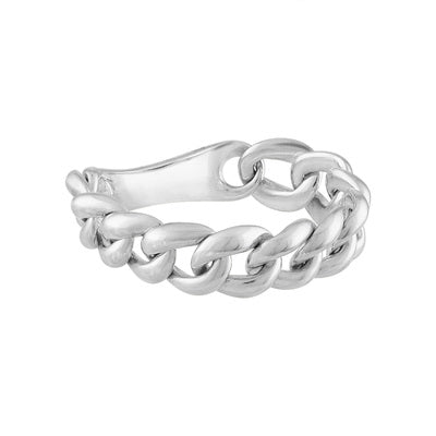 14KT SOLID GOLD CHAIN LINK RING