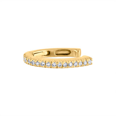 14KT GOLD DIAMOND HINGE EAR CUFF