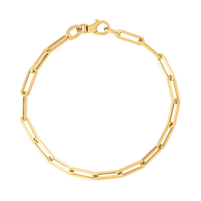 14KT GOLD SMALL LINK BRACELET FOR CHARMS