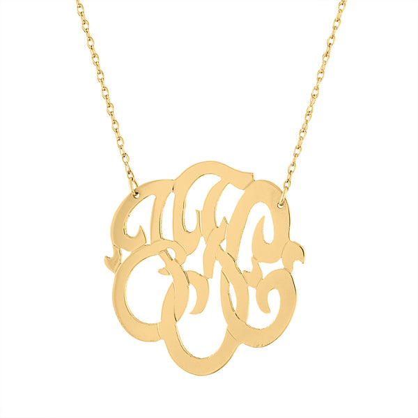"1.25"" SCRIPT MONOGRAM NECKLACE"