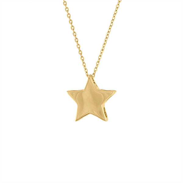 14KT GOLD PLAIN STAR NECKLACE