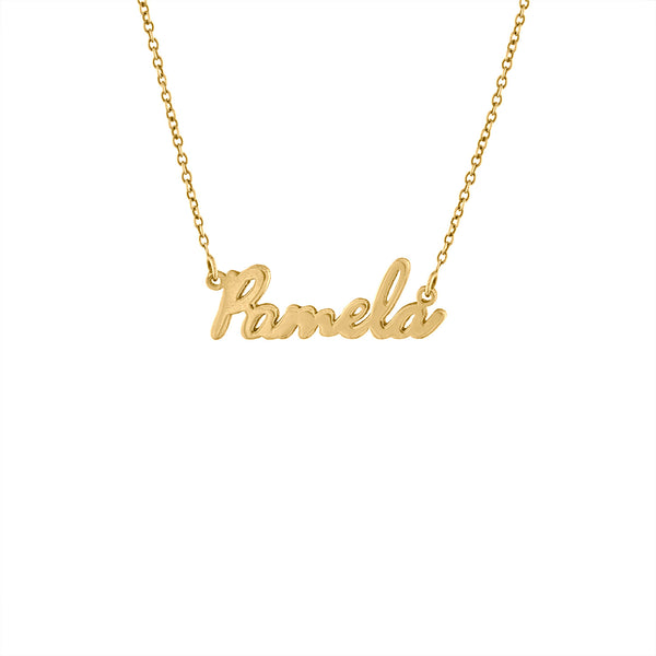 SMALL SCRIPT NAME NECKLACE