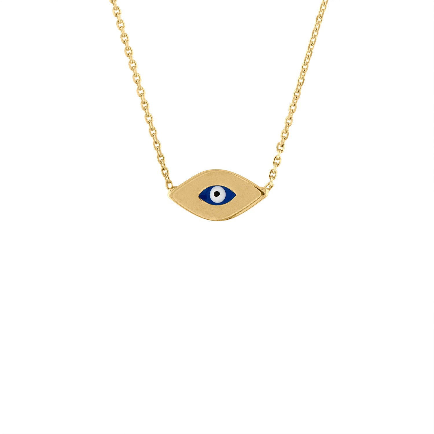 14KT GOLD EVIL EYE NECKLACE