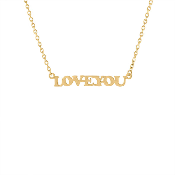 14KT GOLD LOVE YOU NECKLACE