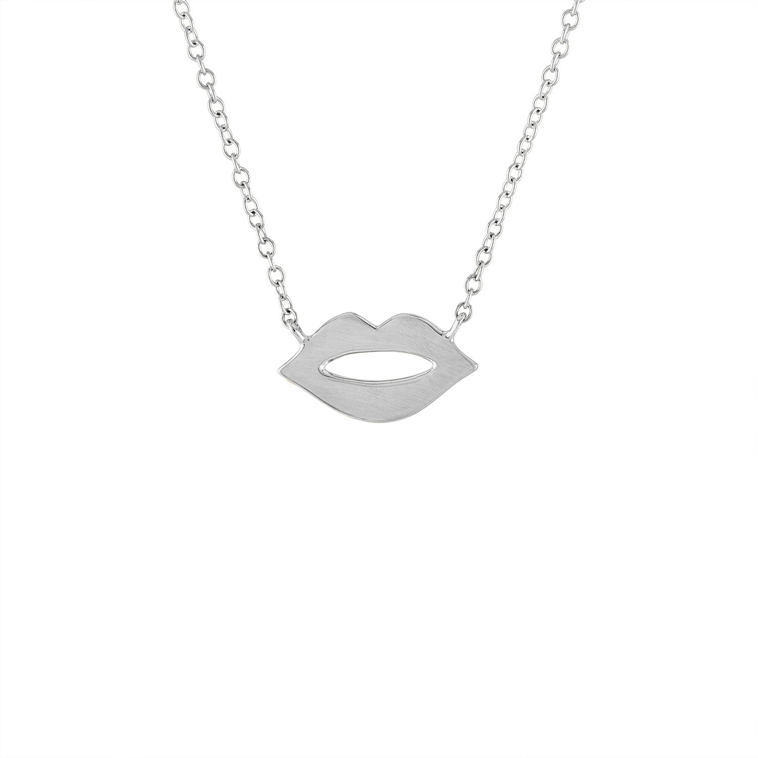 14KT GOLD LIPS NECKLACE