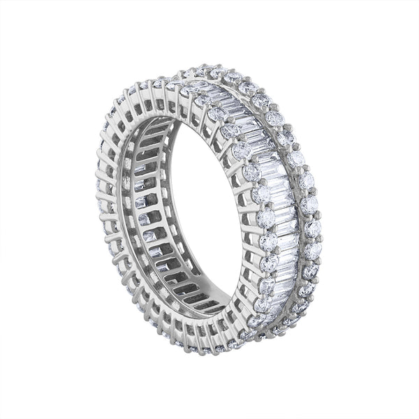 18KT GOLD DIAMOND BAGUETTE ETERNITY RING