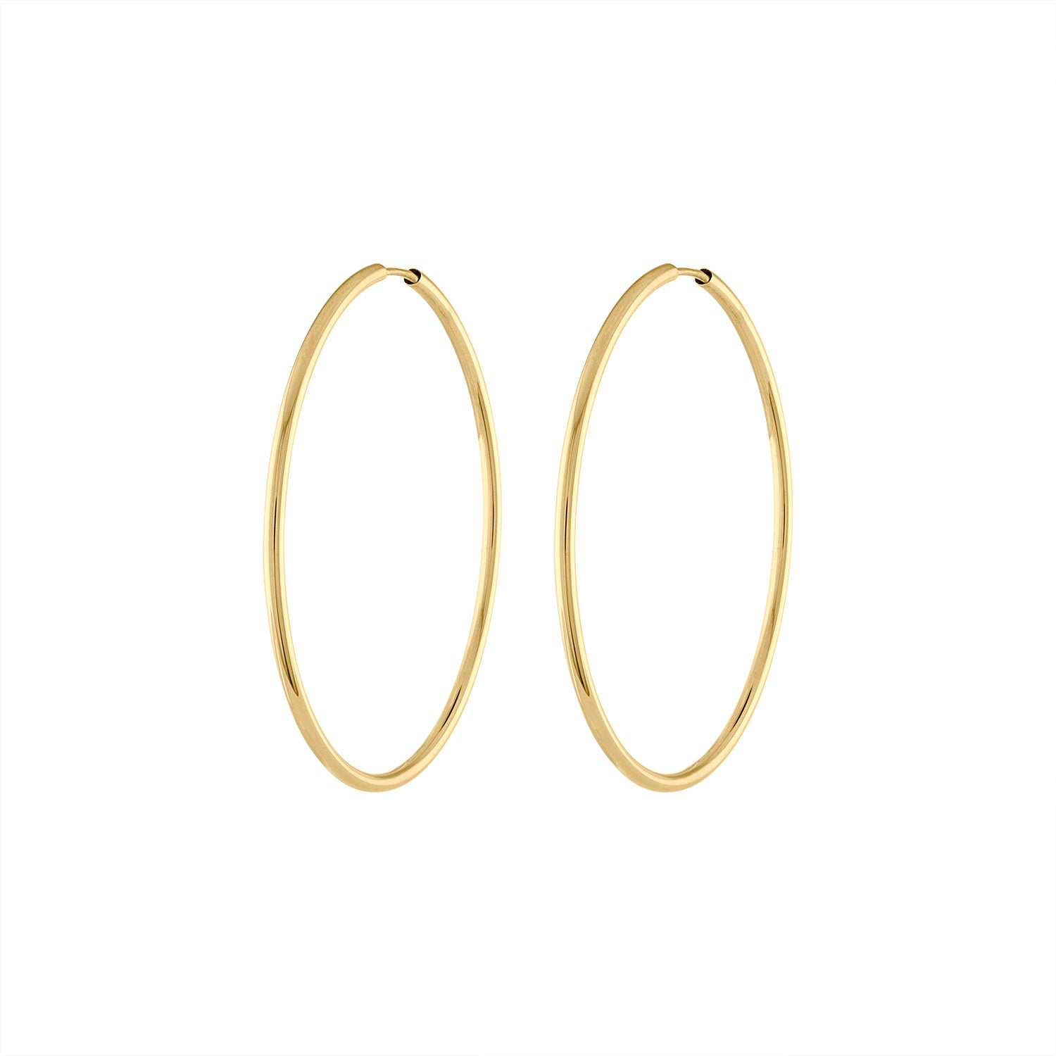 14KT GOLD THIN 30MM ENDLESS HOOP EARRING