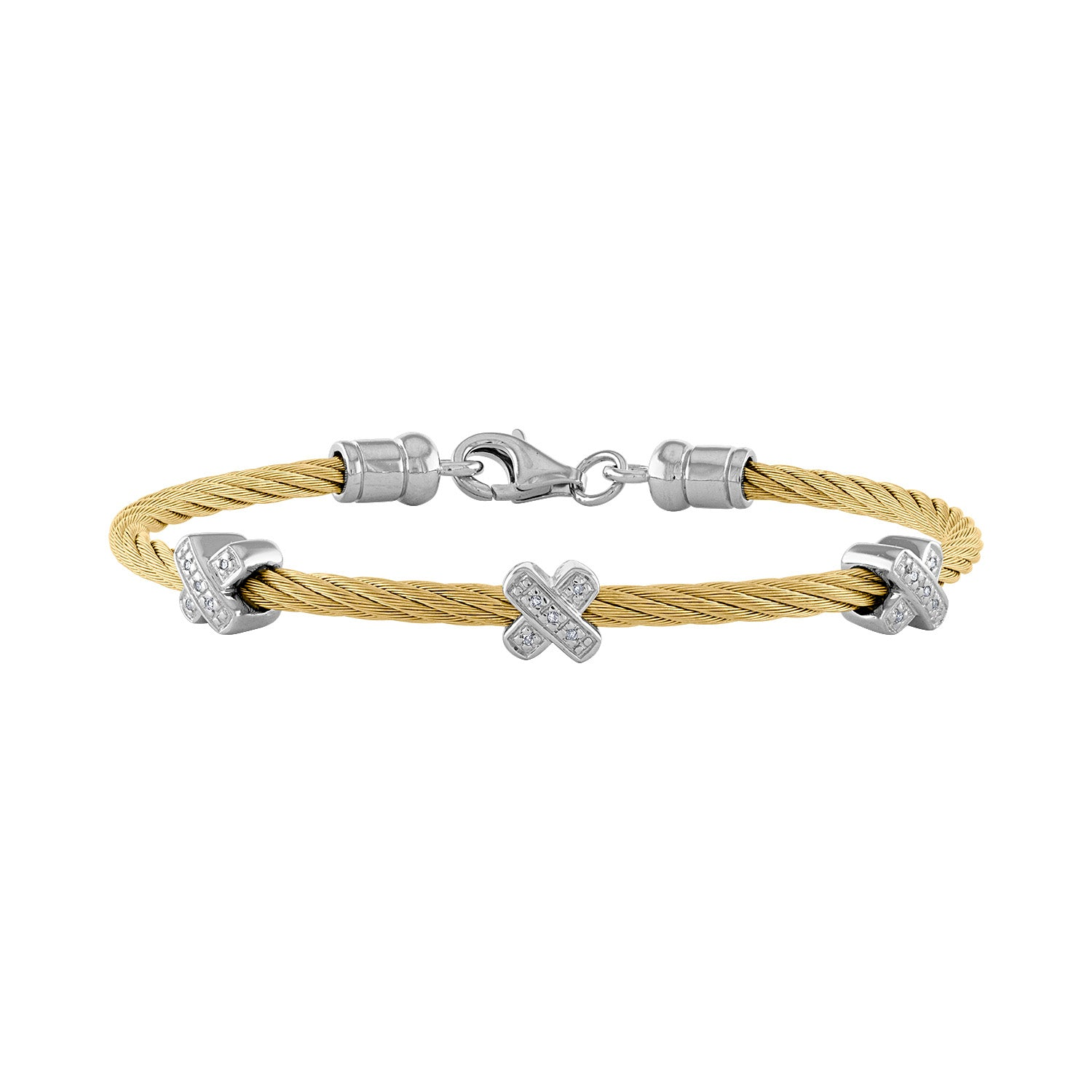 14k Yellow Stainless Steel  diamond