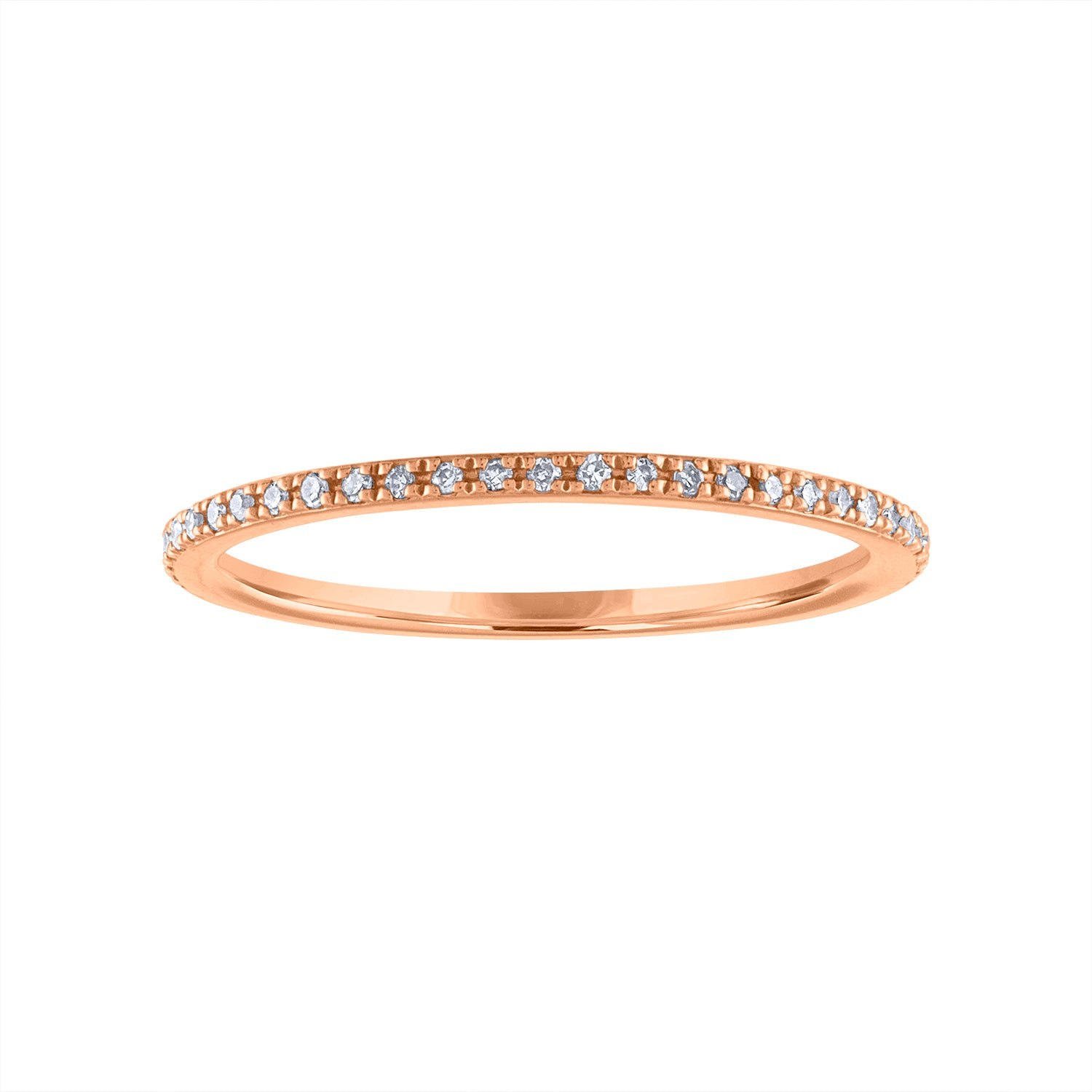 14KT GOLD PAVE DIAMOND RING GUARD