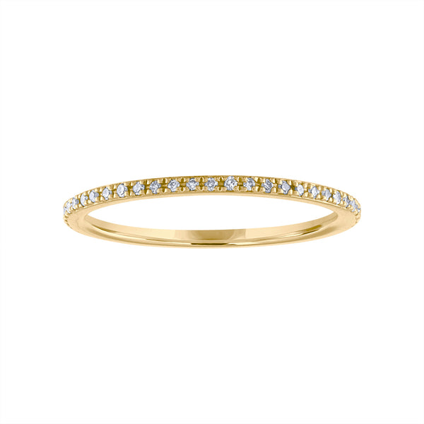 14KT GOLD DIAMOND RING GUARD