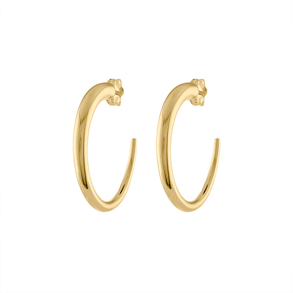 14KT GOLD SMALL TAPERED HOOP POST EARRING