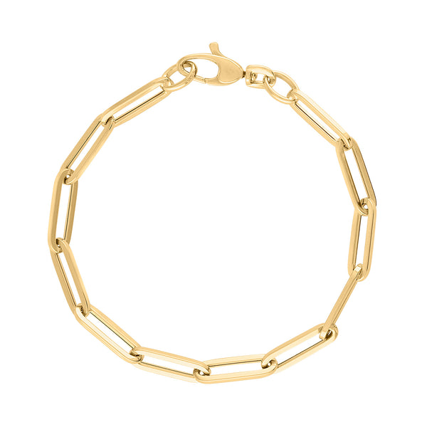 14KT GOLD CHAIN LINK BRACELET FOR CHARMS