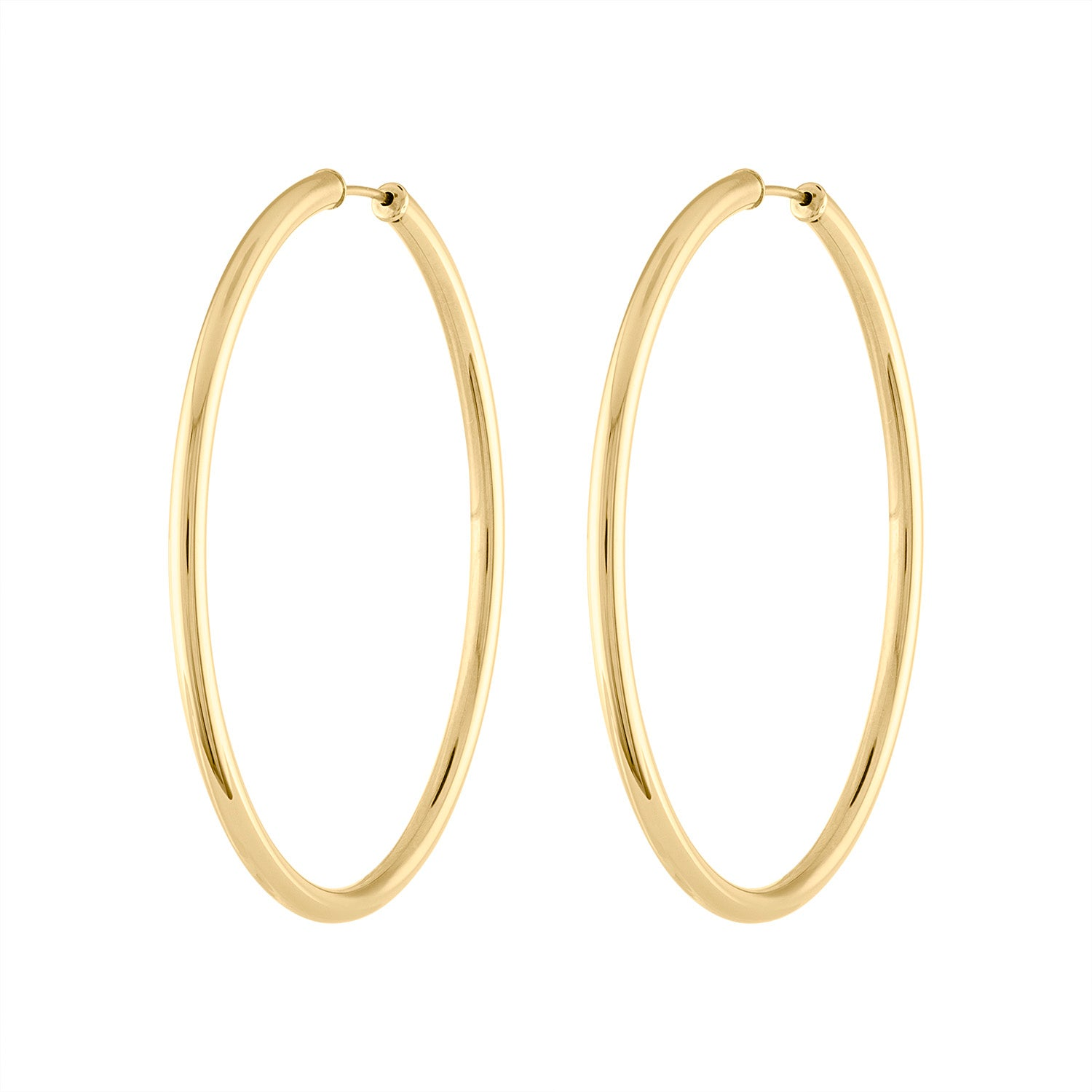 14KT GOLD 50MM ENDLESS HOOP EARRING