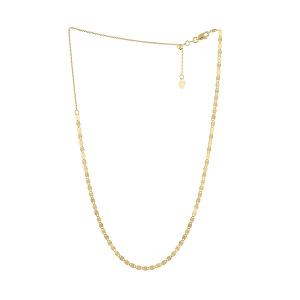 "14K Yellow Gold ""Valentino"" chain necklace"
